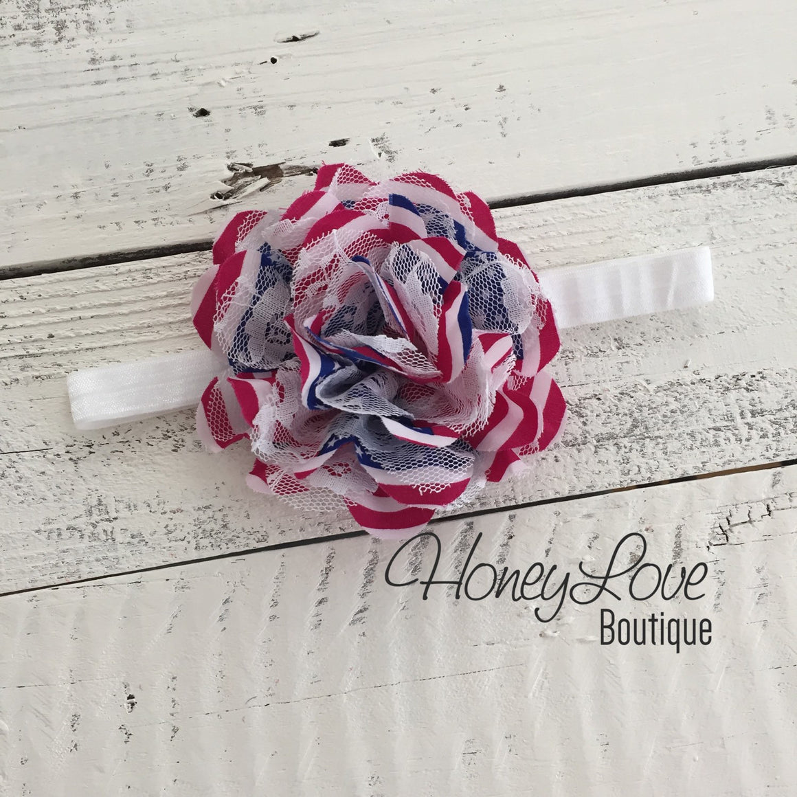 Flag Flower Headband
