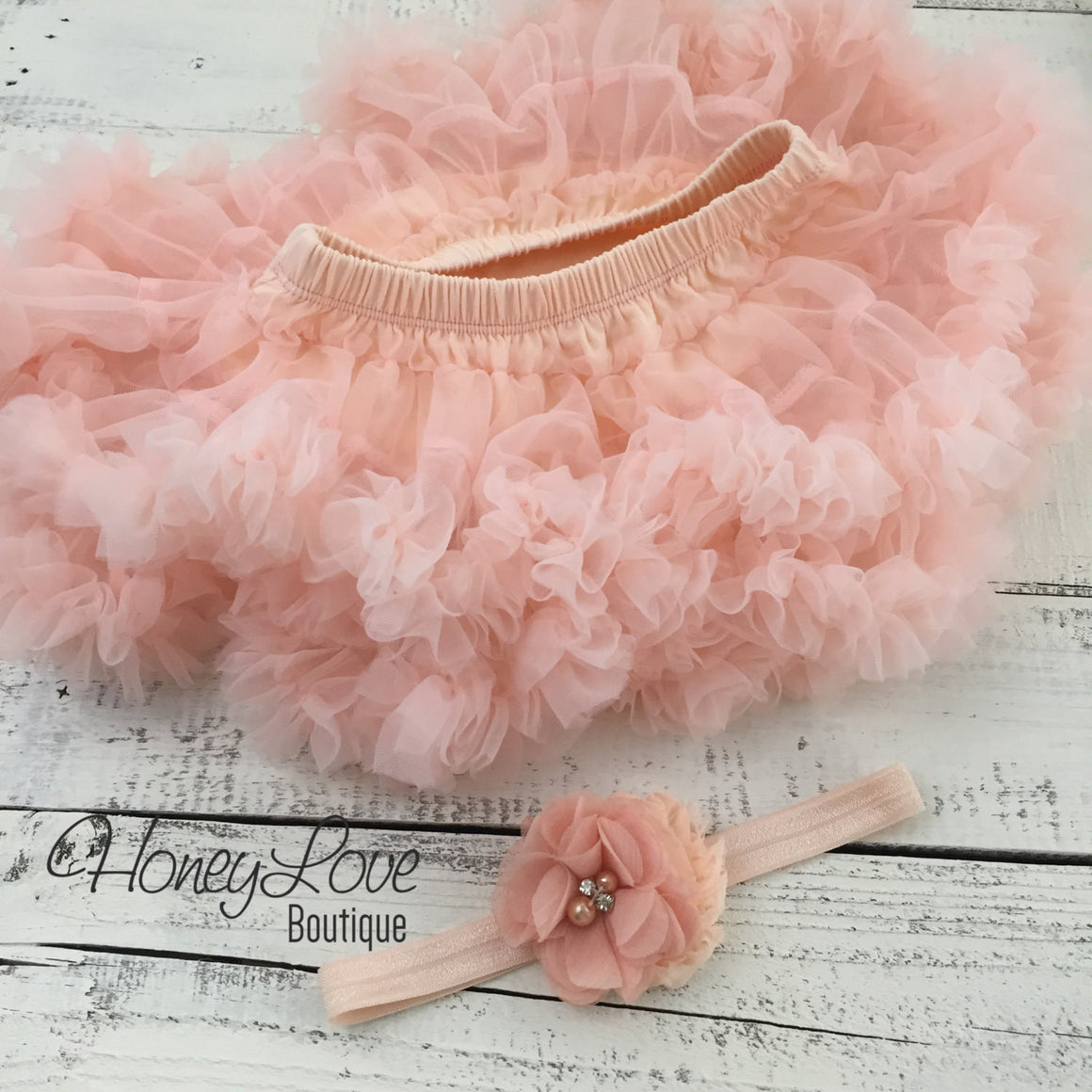 PERSONALIZED Name Outfit - Gold Glitter and Peach Pettiskirt