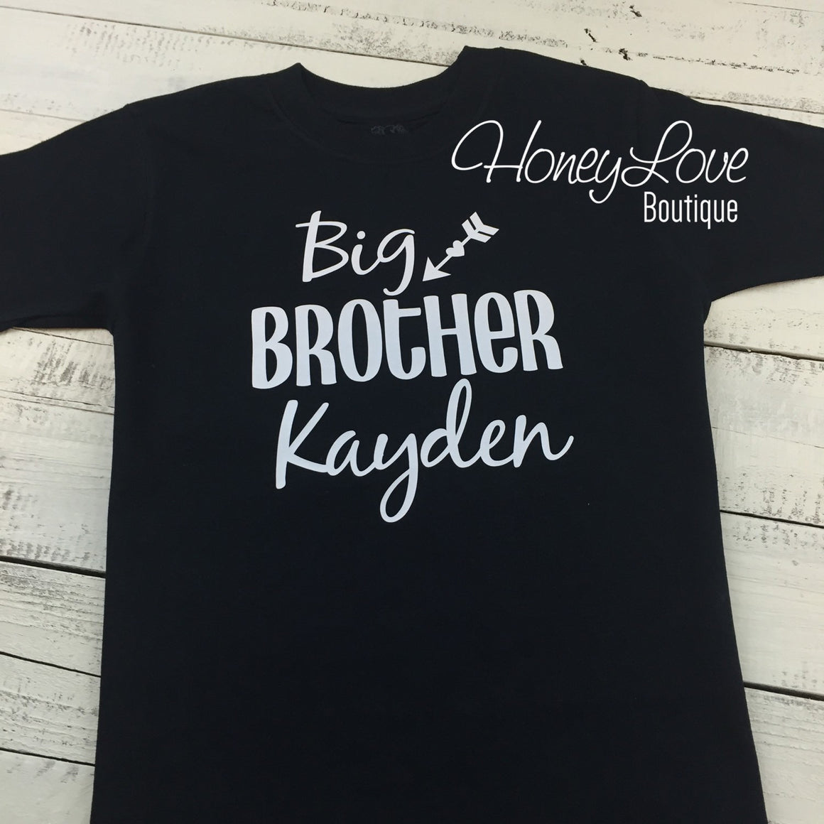 PERSONALIZED Brother Sibling shirts Matching Sis, Little, Middle, Twin, Big Brother bodysuits, custom personalization shirt newborn baby boy - HoneyLoveBoutique
