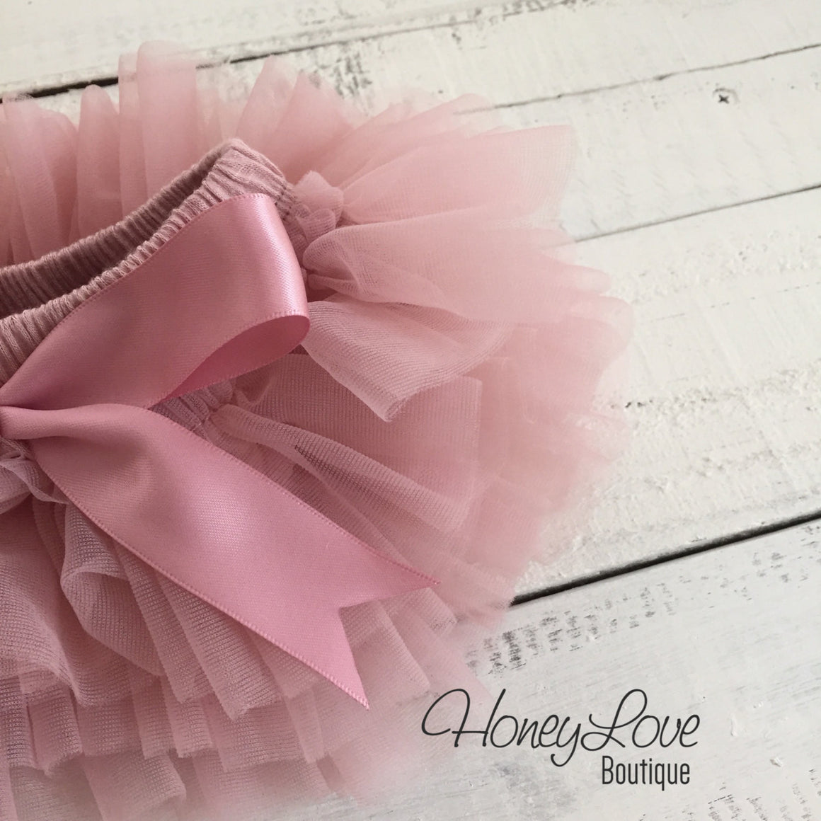 Vintage Pink tutu skirt bloomers - Embellished - HoneyLoveBoutique