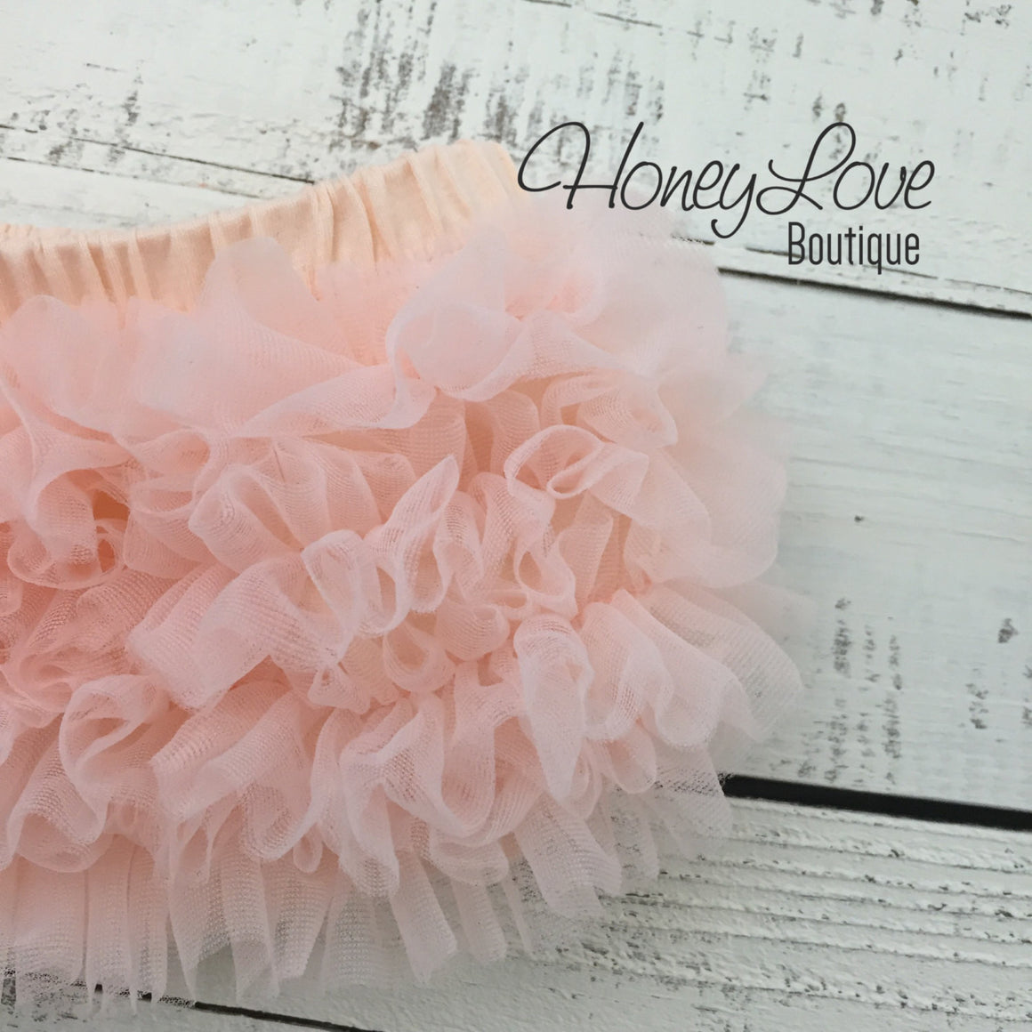 Peach ruffle bottom bloomers - vintage pink and peach headband - HoneyLoveBoutique