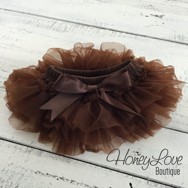 Tutu Skirt Bloomer - Brown - HoneyLoveBoutique