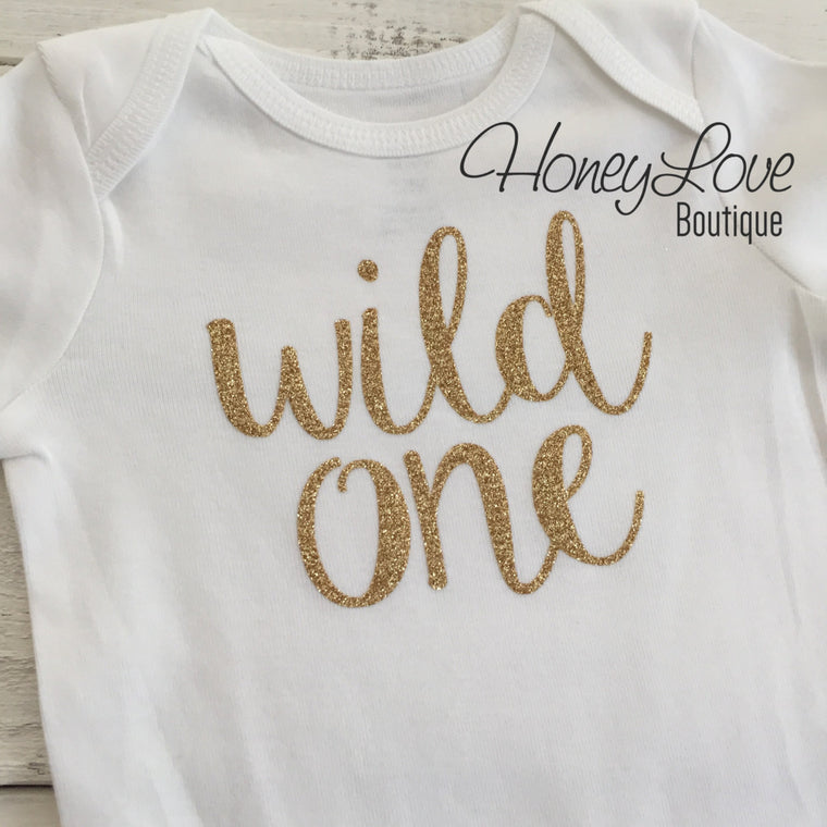Wild One - Silver/Gold Bodysuit - HoneyLoveBoutique