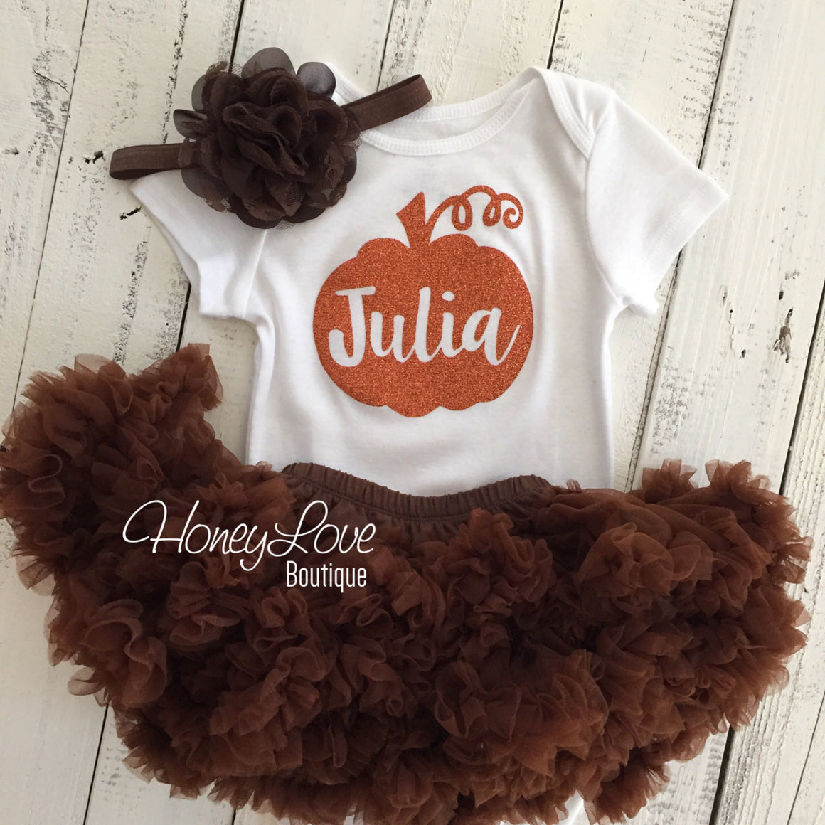 Thanksgiving Fall Halloween outfit - Brown flower headband