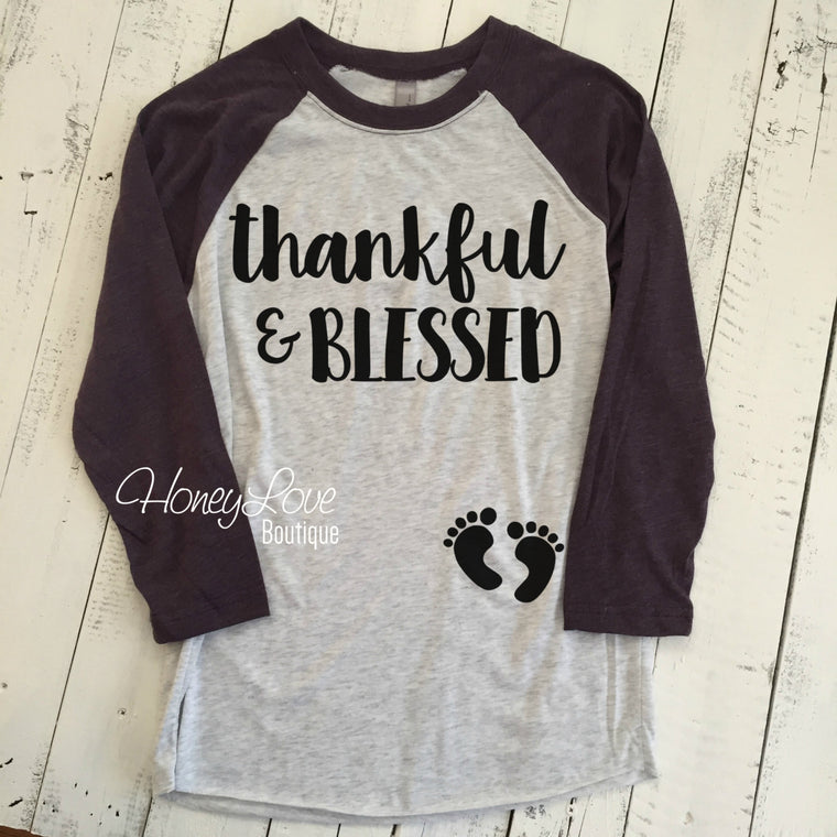 thankful & BLESSED Pregnancy Announcement - HoneyLoveBoutique