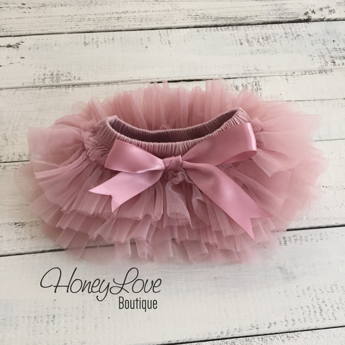 Vintage Pink tutu skirt bloomers and gold glitter headband - HoneyLoveBoutique