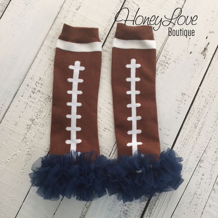 Football Leg Warmers - Navy, Red, Brown, Pink, White - HoneyLoveBoutique
