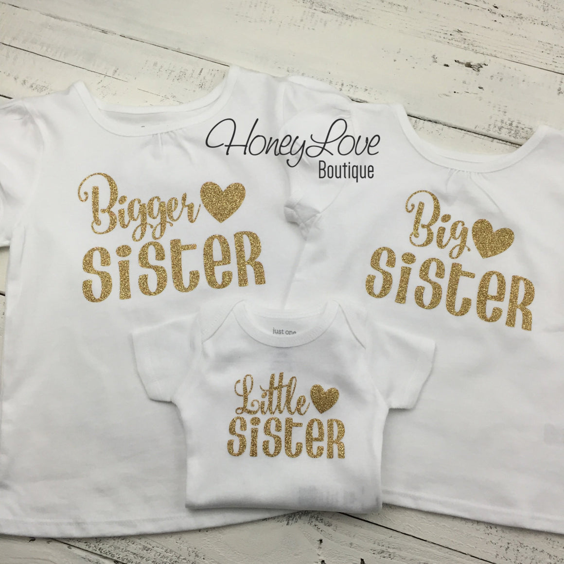 Sister shirts - Gold Glitter - Adult Unisex Sizes - HoneyLoveBoutique