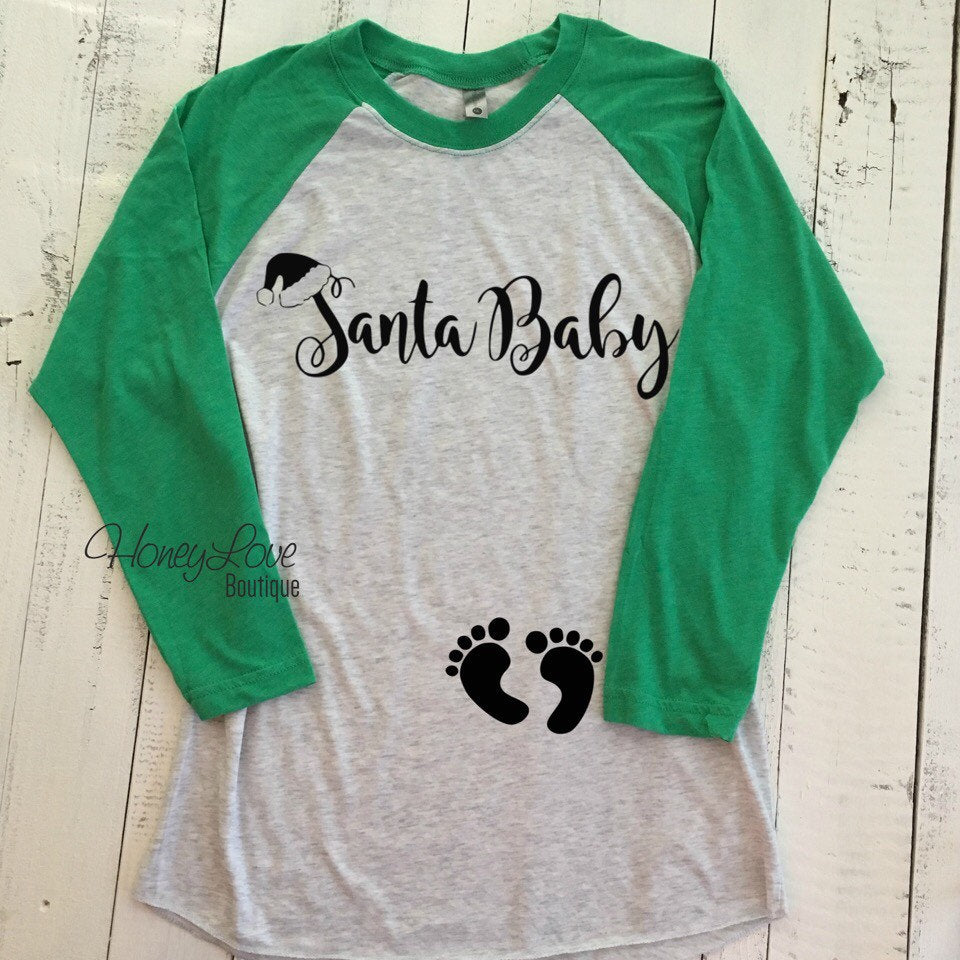 Santa Baby - Christmas Pregnancy Announcement - HoneyLoveBoutique