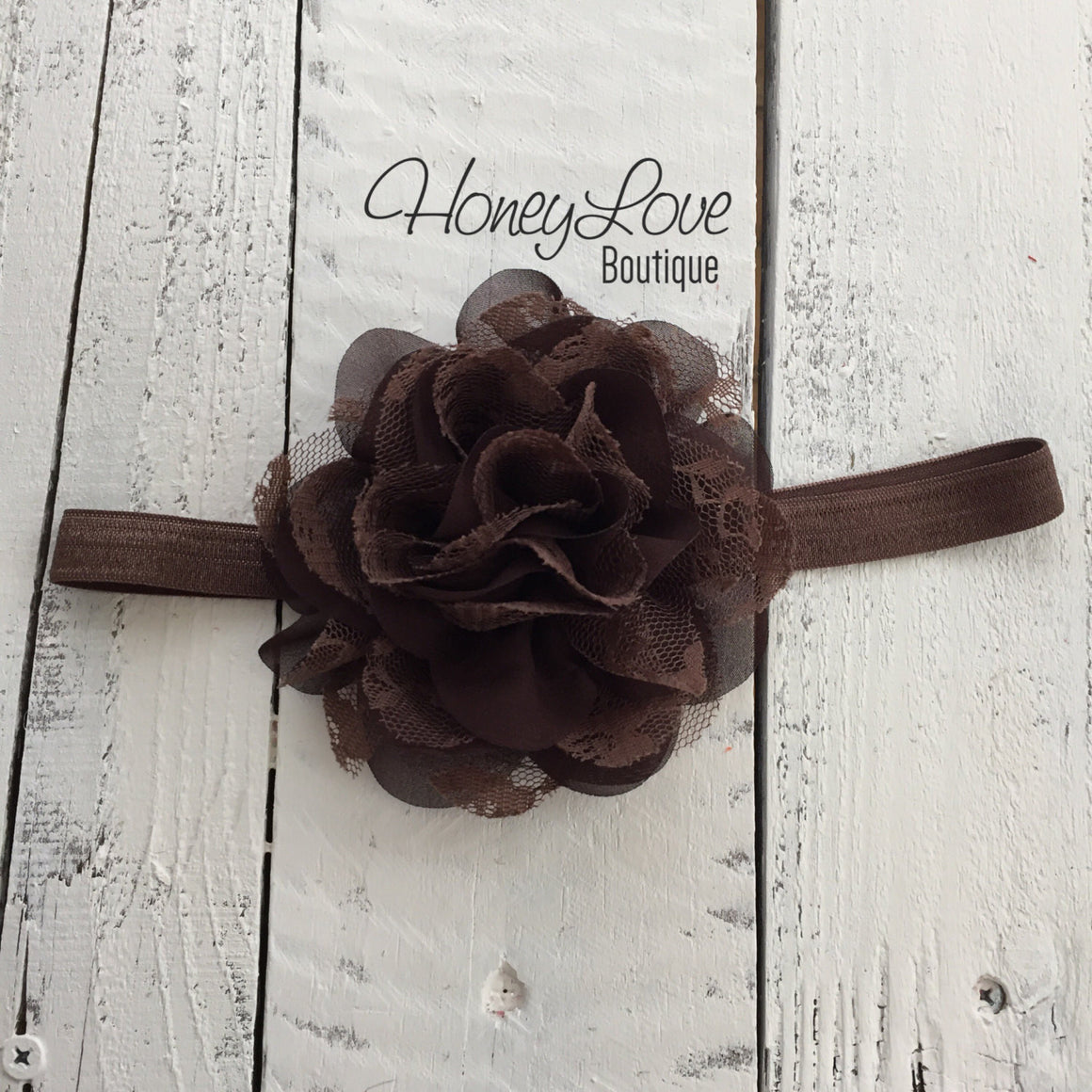 Thanksgiving Fall Halloween outfit - Brown flower headband - HoneyLoveBoutique