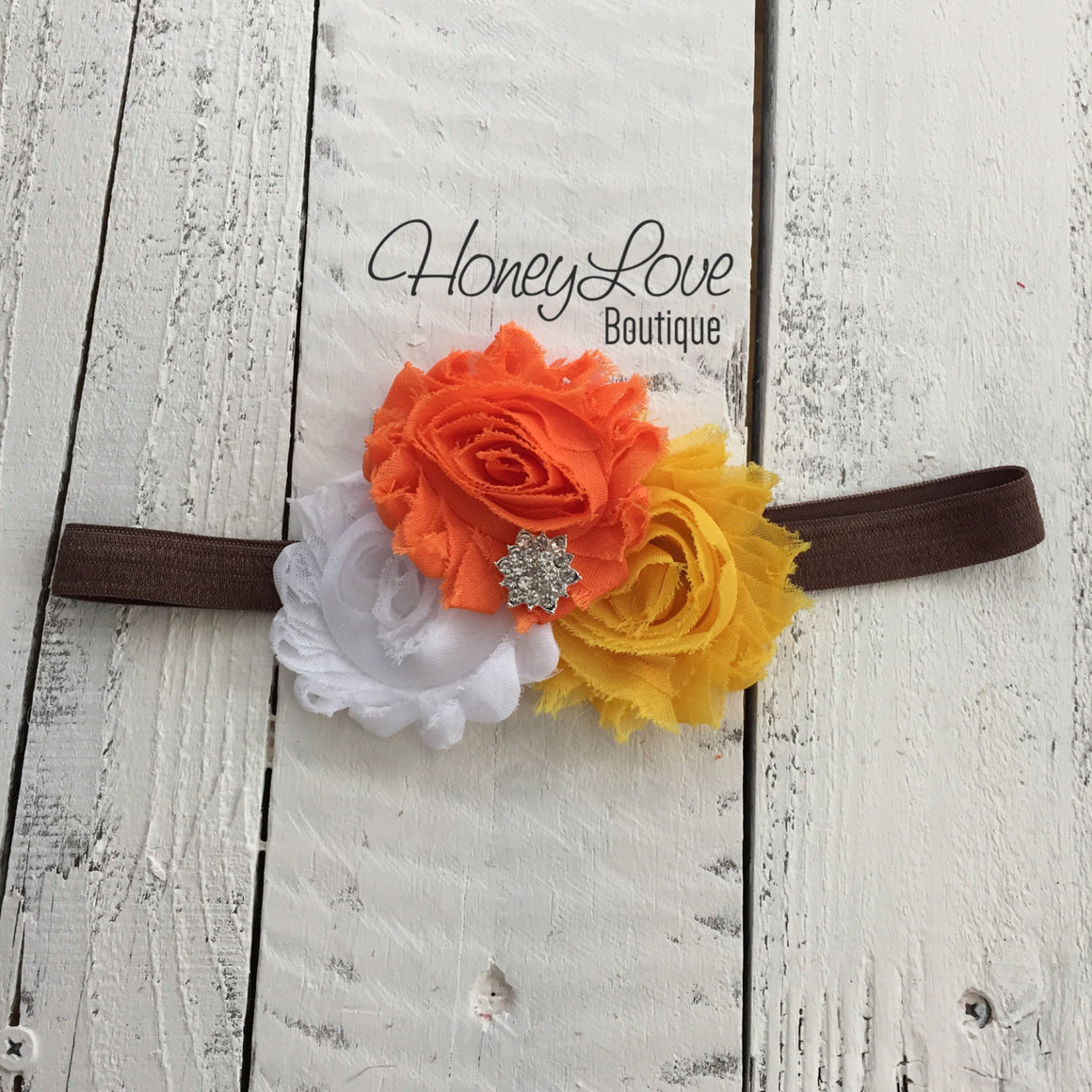 Thanksgiving Fall Halloween outfit - candy corn headband