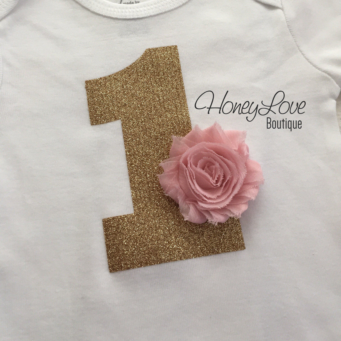 1st Birthday Outfit - Peach, Blush Pink and Ivory