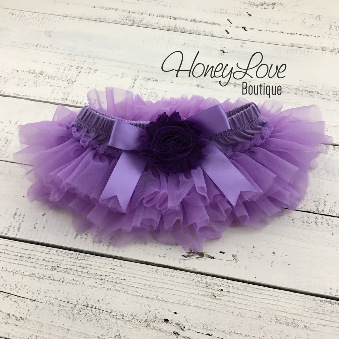 Lavender/Grape Purple tutu skirt bloomers and headband - Embellished bloomers - HoneyLoveBoutique