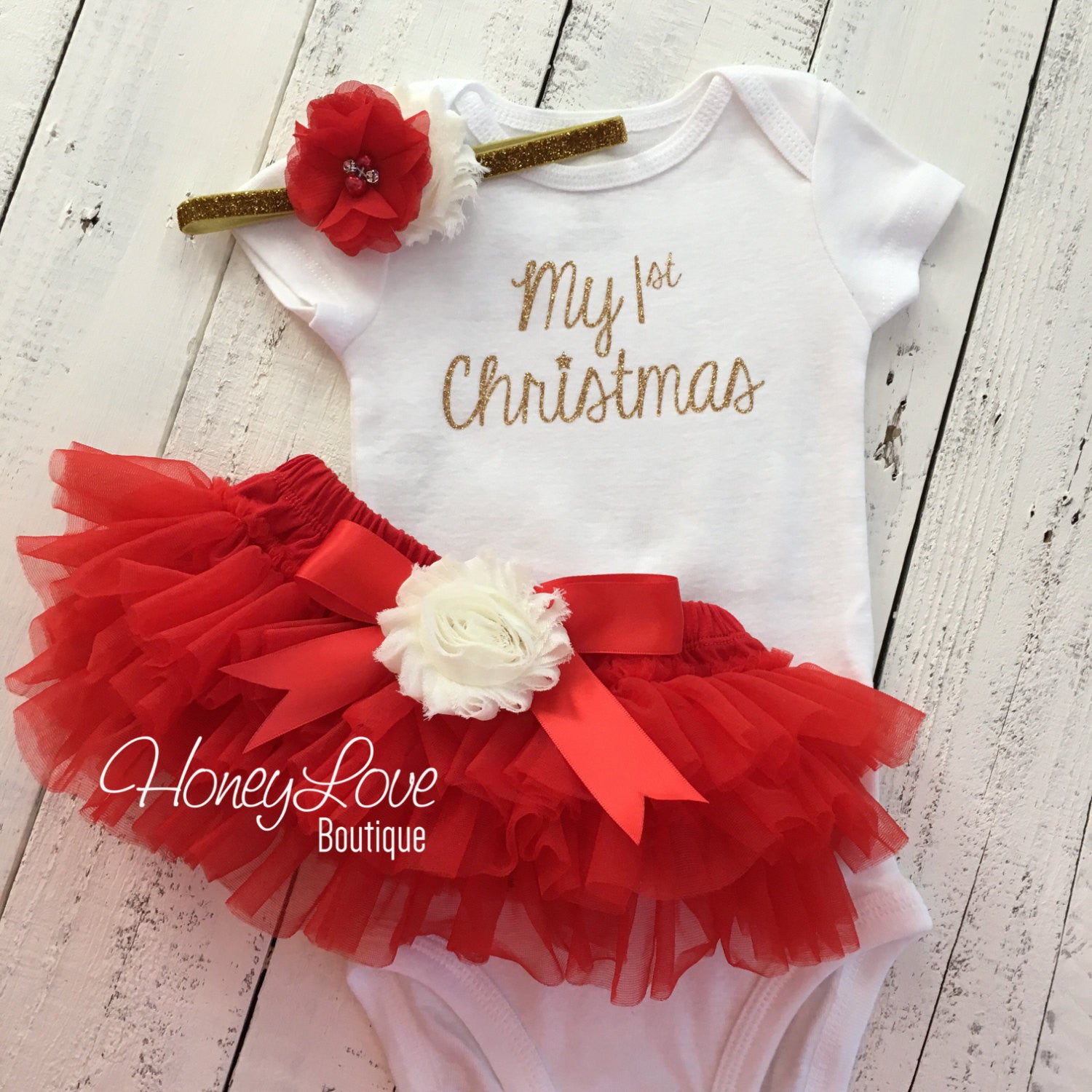 Red ivory gold headband-christmas red ivory gold baby headband-christmas red and gold bow-christmas gold red ivory hair bow gold red ivory