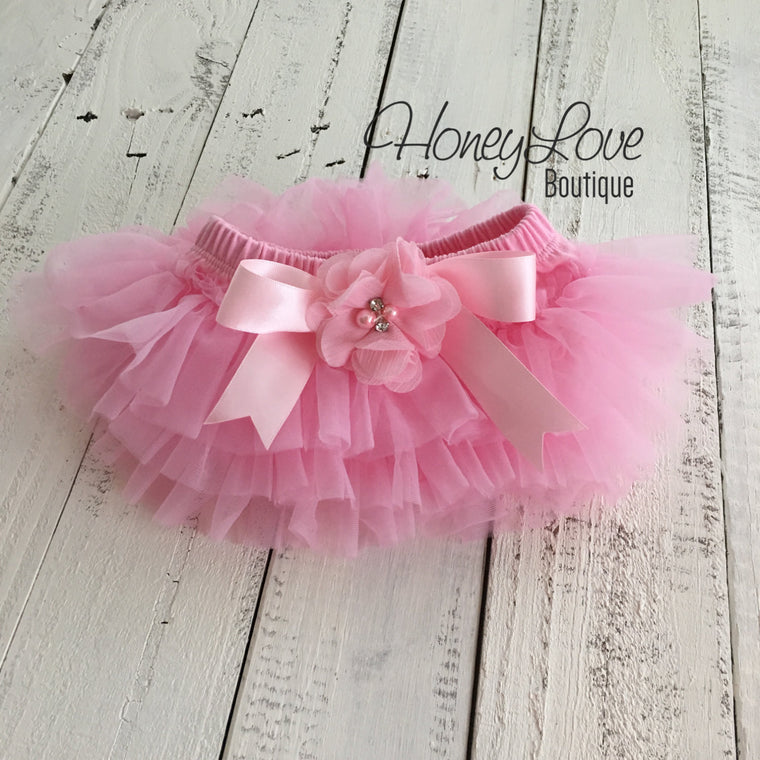 Light Pink tutu skirt bloomers  - embellished bloomer