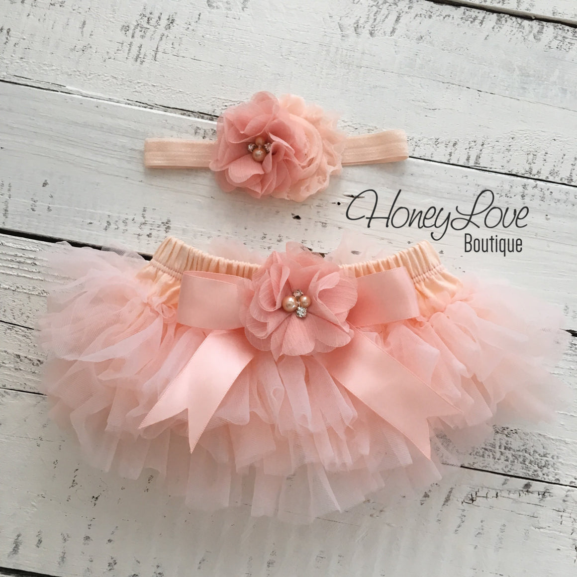 PERSONALIZED Name Outfit - Gold Glitter and Peach - embellished tutu skirt bloomers