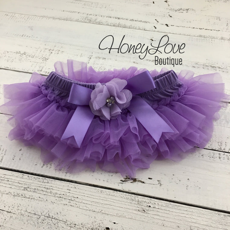 Lavender Purple tutu skirt bloomers - Embellished bloomers