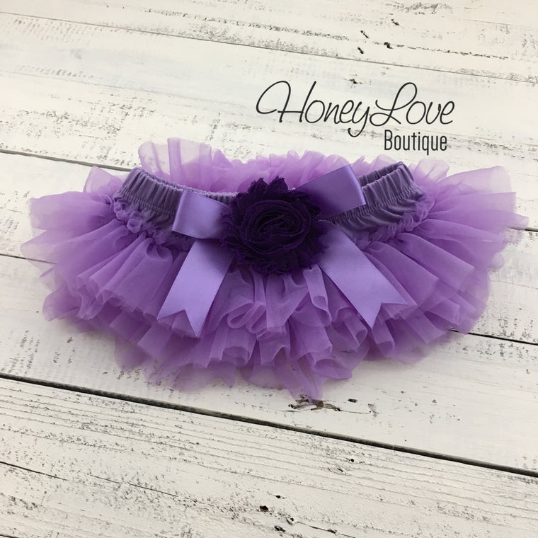 Lavender/Grape Purple tutu skirt bloomers - Embellished bloomers