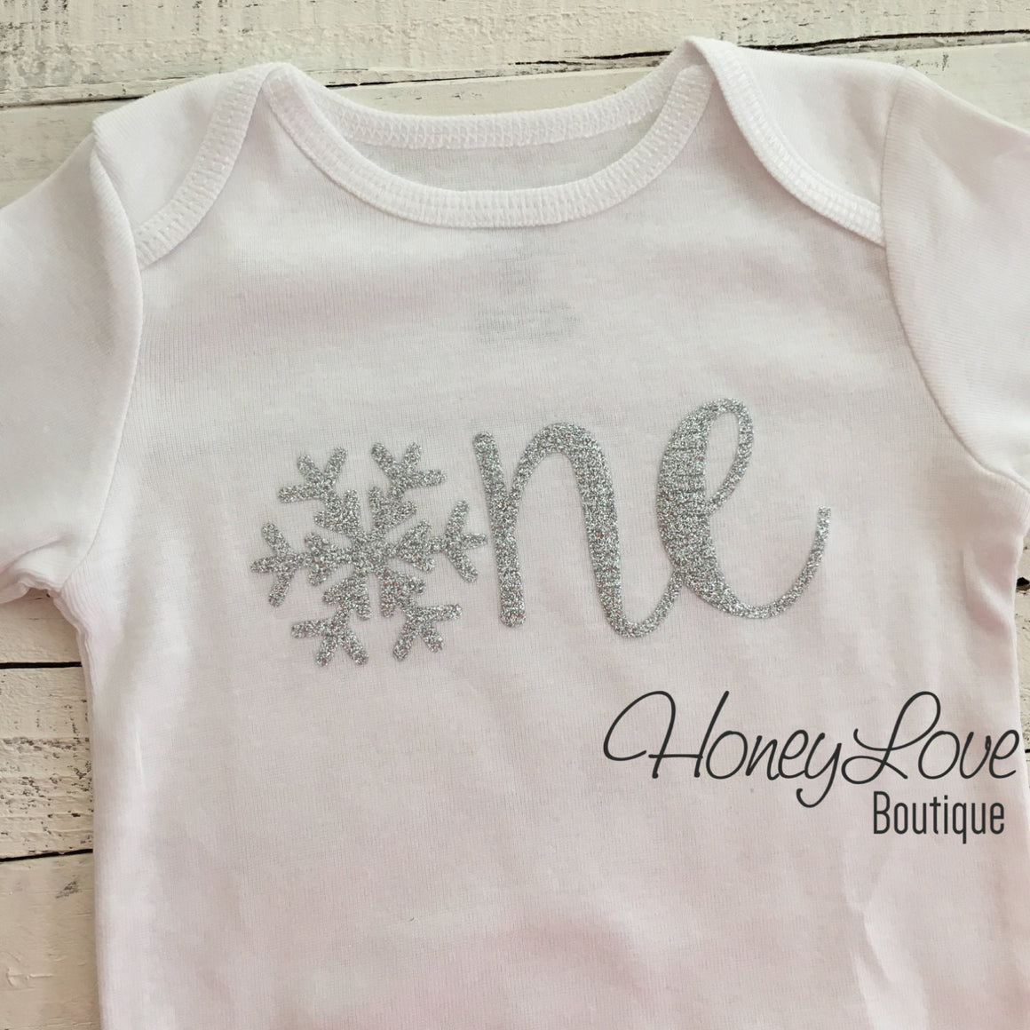 Snowflake Winter ONEderland - Silver/Gold Glitter - HoneyLoveBoutique