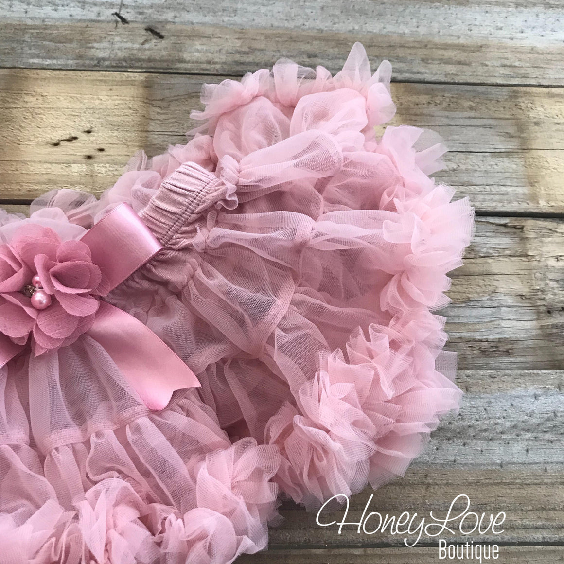 Personalized 1st Birthday Princess outfit - Gold Glitter and Vintage Pink - embellished pettiskirt - HoneyLoveBoutique