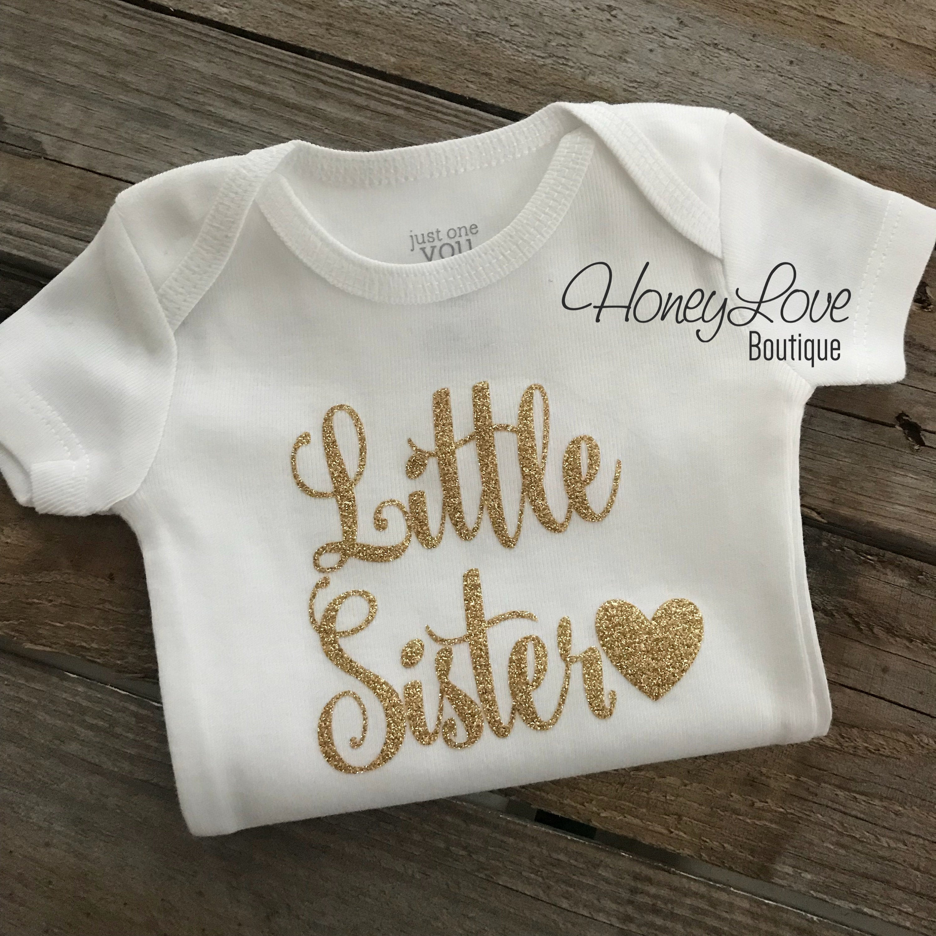 SISTER Sibling shirts Matching Sis Little Middle Twin Big Sister glitter bodysuits custom personalization shirt newborn infant toddler girl