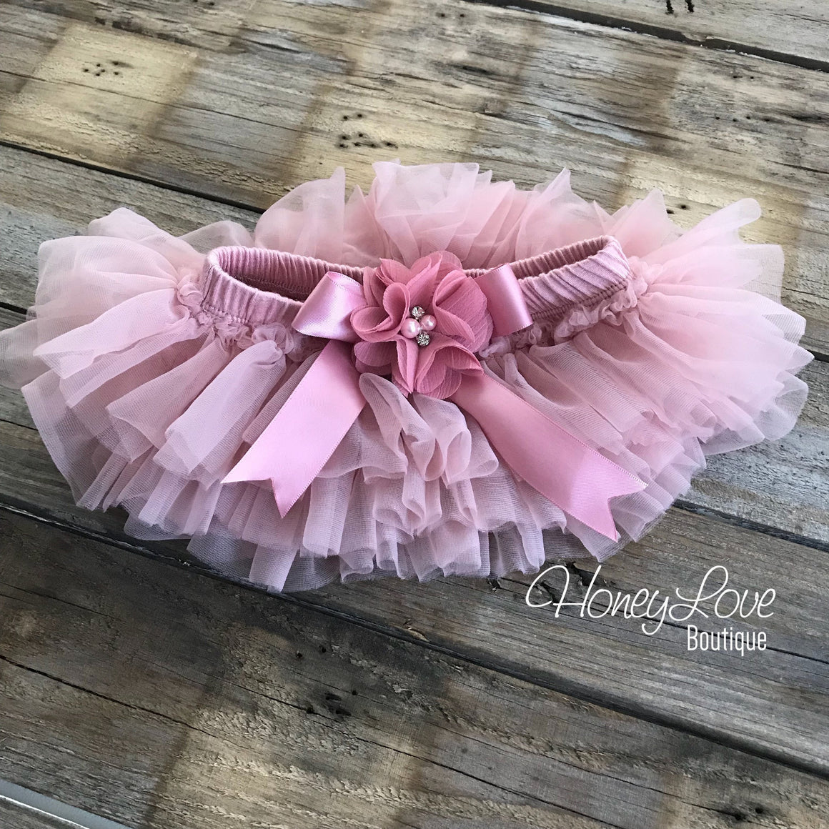 PERSONALIZED SET rose gold glitter bodysuit, dusty rose vintage pink ruffle tutu skirt bloomers, flower headband newborn baby girl outfit