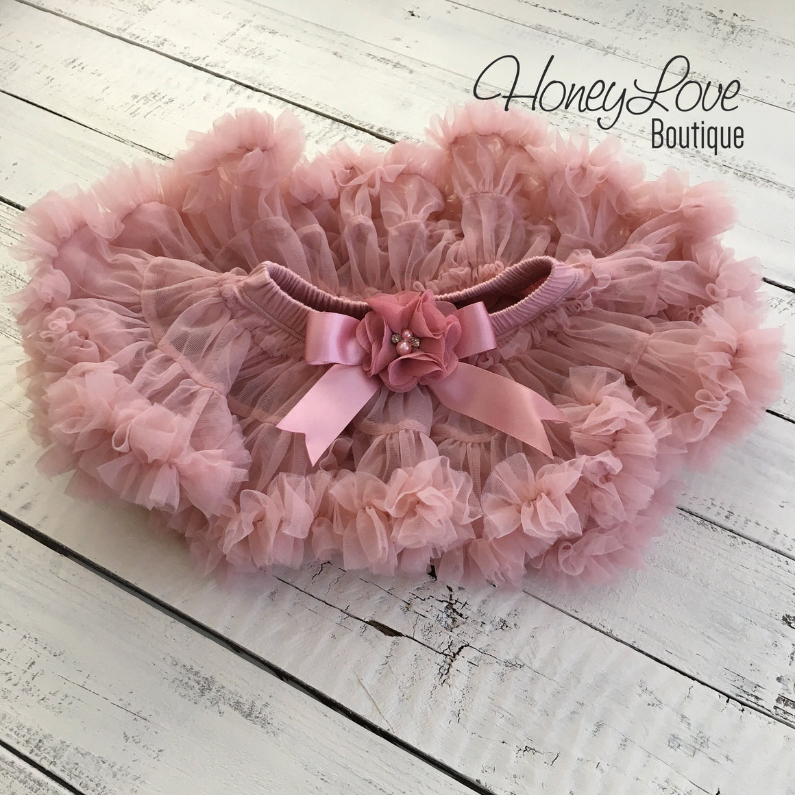 1st Birthday Outfit - Vintage Pink and Gold glitter - HoneyLoveBoutique