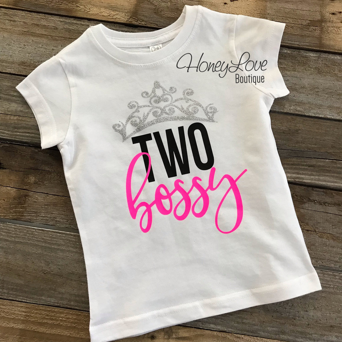 Two Bossy and The Real Boss matching shirts - HoneyLoveBoutique