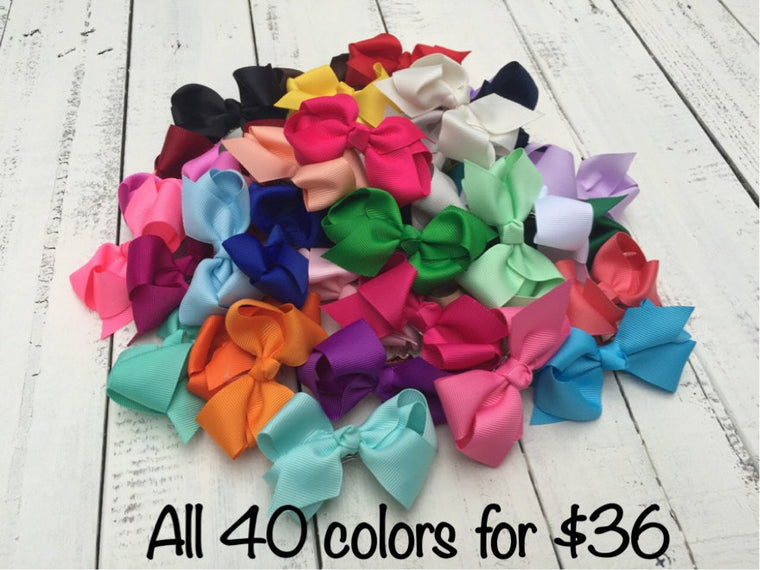 "Set of 40 Bows (3.3"")"