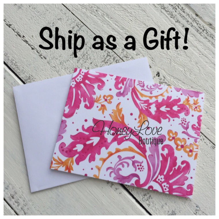 Add Handwritten gift note! - HoneyLoveBoutique