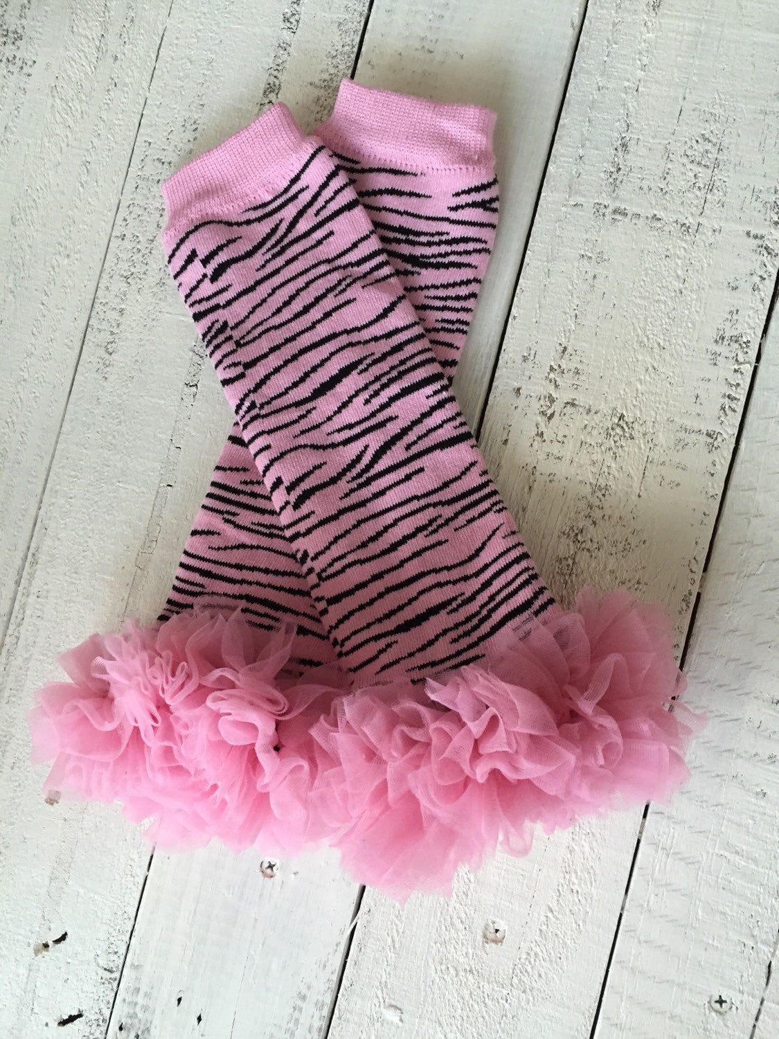 Pink and Black Zebra Leg Warmer