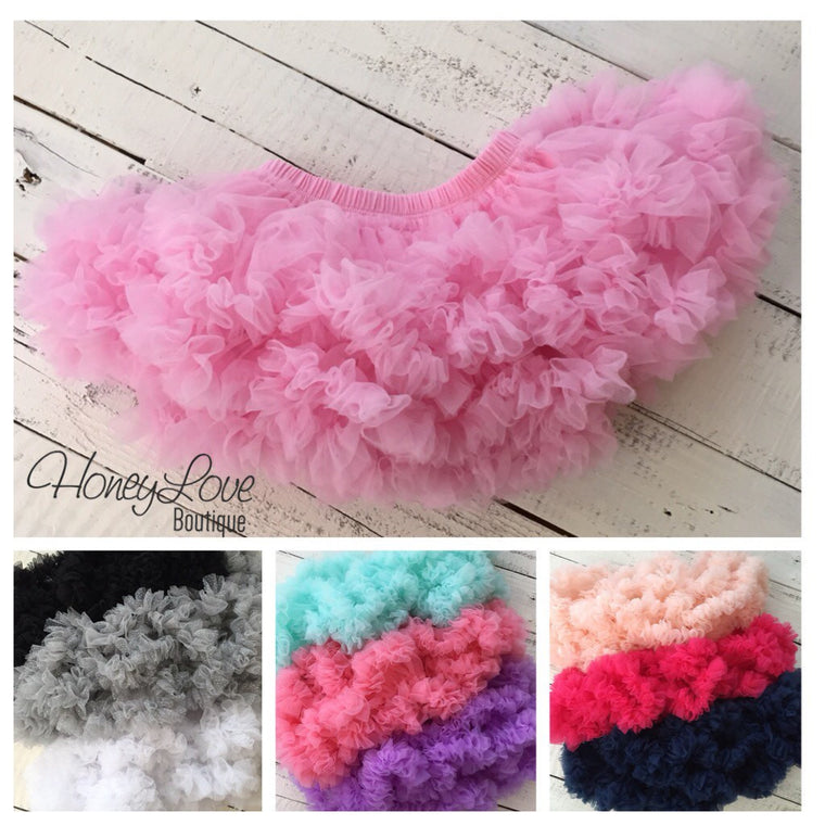 18 COLORS! Baby girls Pettiskirt Pink Purple Gray Navy Watermelon Coral Mint Peach Black White Red tutu skirt photo prop cake smash birthday - HoneyLoveBoutique