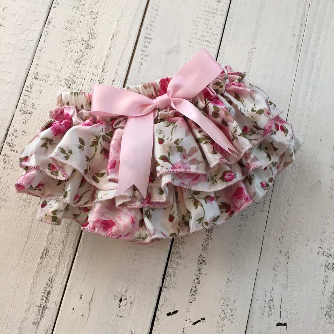 Pink Floral Satin Bloomers