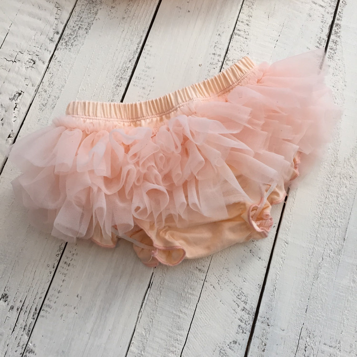 Peach - Pettiskirt - Tutu Skirt Bloomer - Ruffle Bottom Bloomer - HoneyLoveBoutique