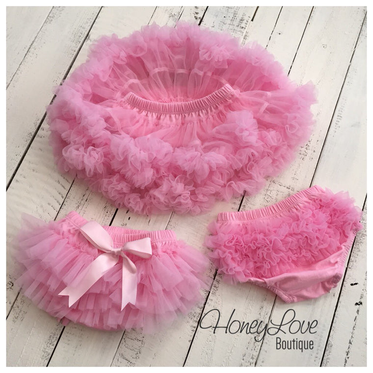 Light Pink - Pettiskirt - Tutu Skirt - Ruffle Bottom Bloomers - HoneyLoveBoutique