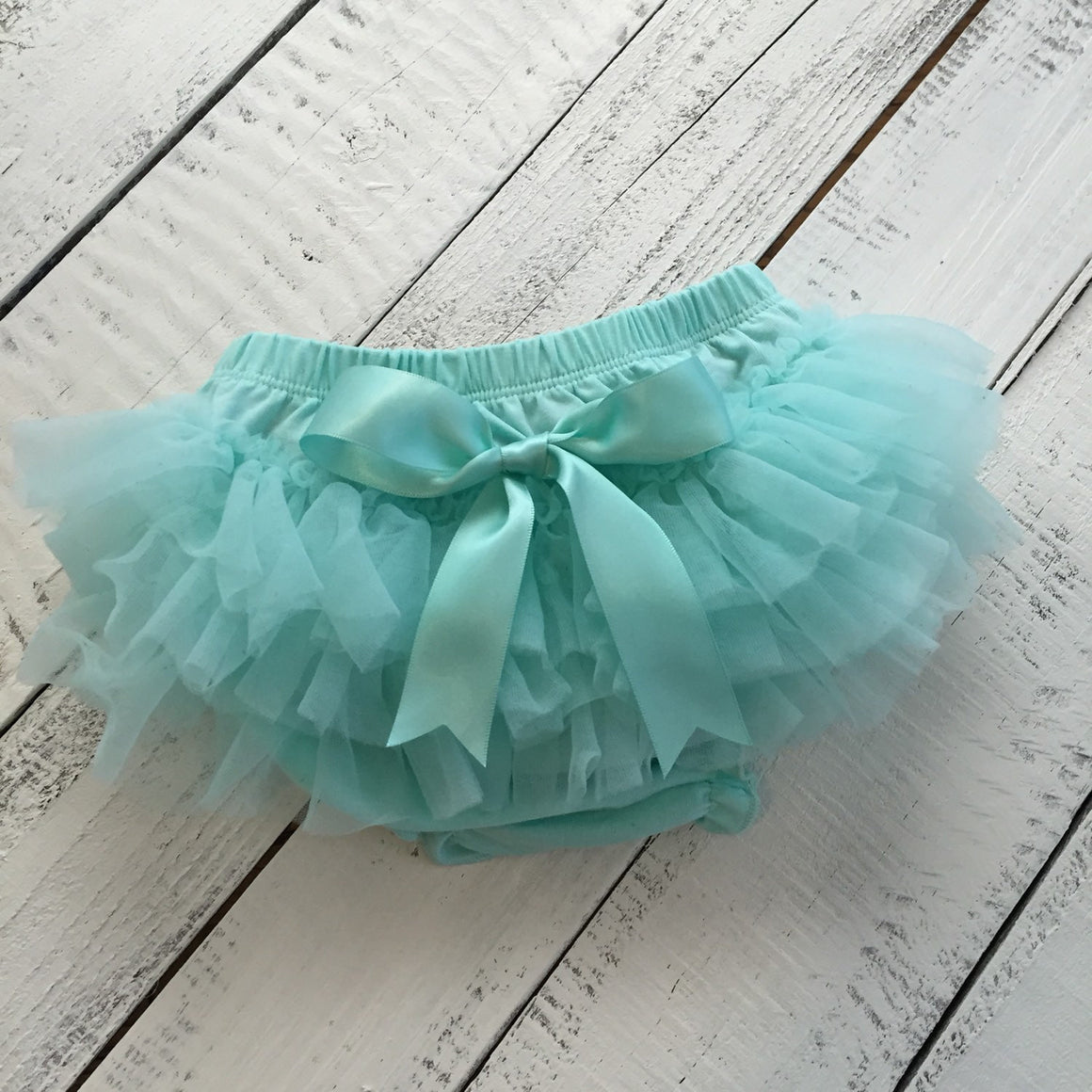 Mint Aqua - Pettiskirt - Tutu Skirt Bloomer - Ruffle Bottom Bloomer - HoneyLoveBoutique