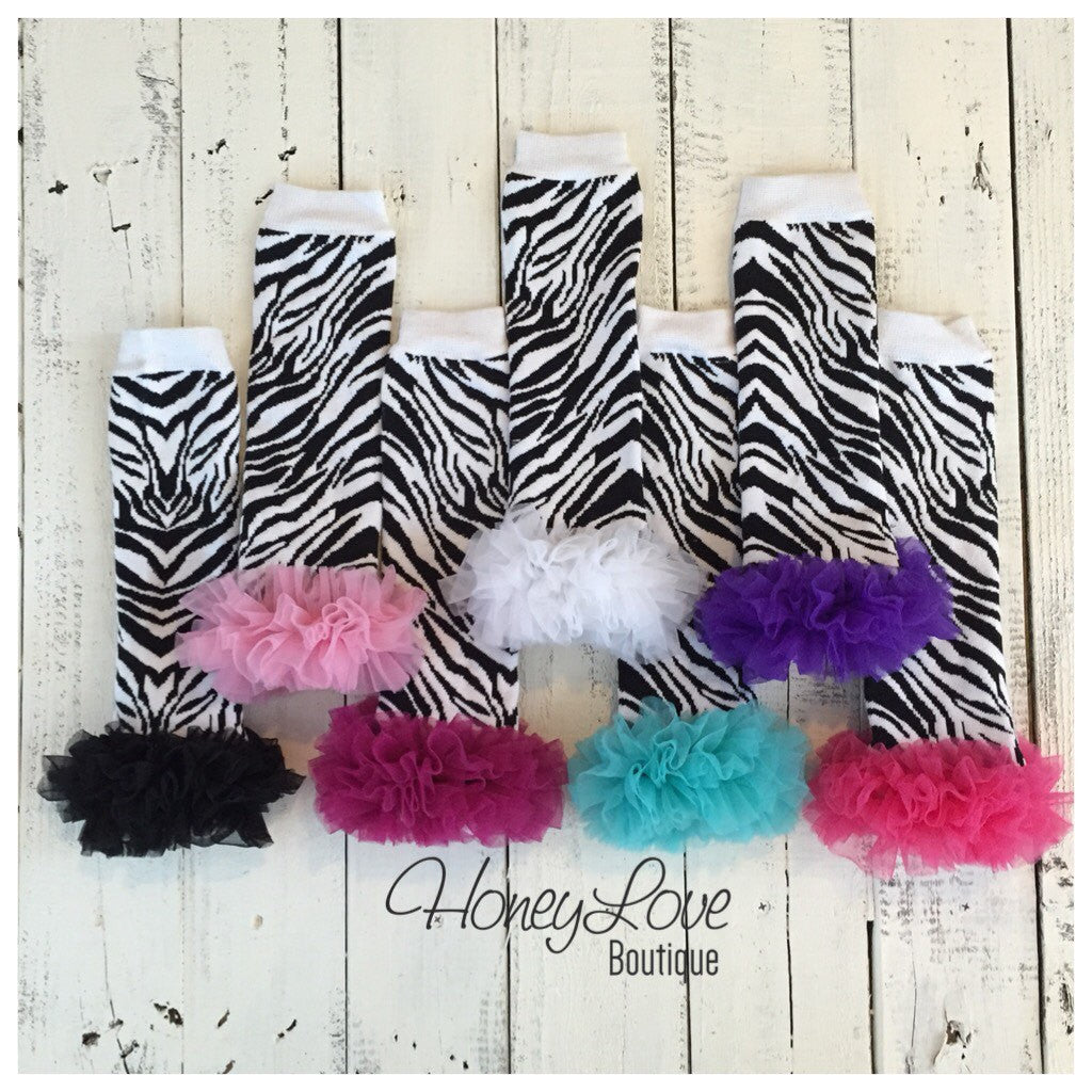 Leg Warmers - Zebra Print - HoneyLoveBoutique