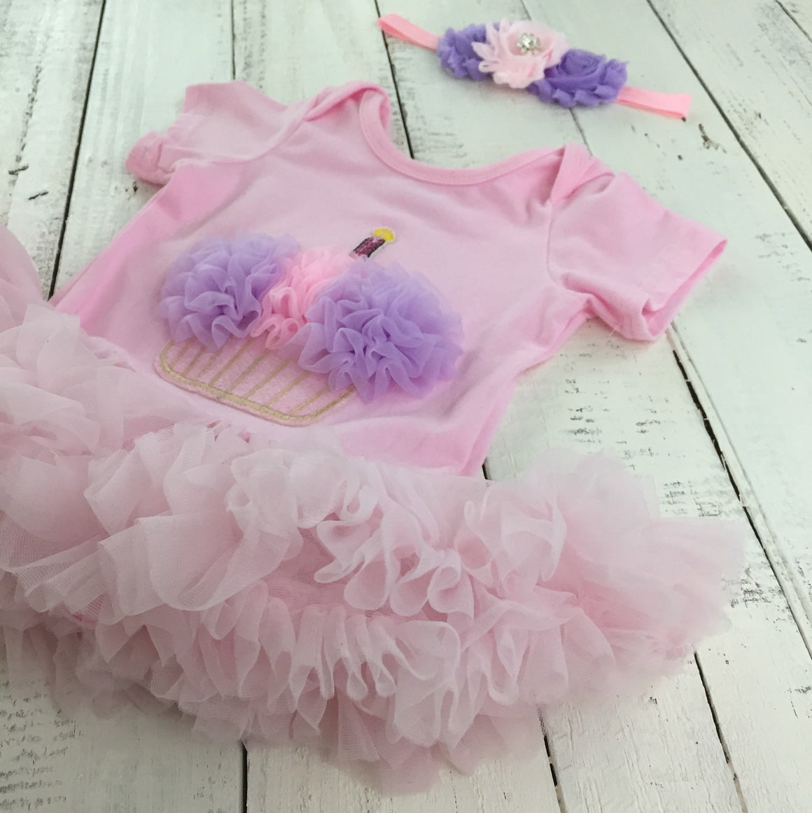 Cupcake Tutu Dress - Pink and Purple - HoneyLoveBoutique