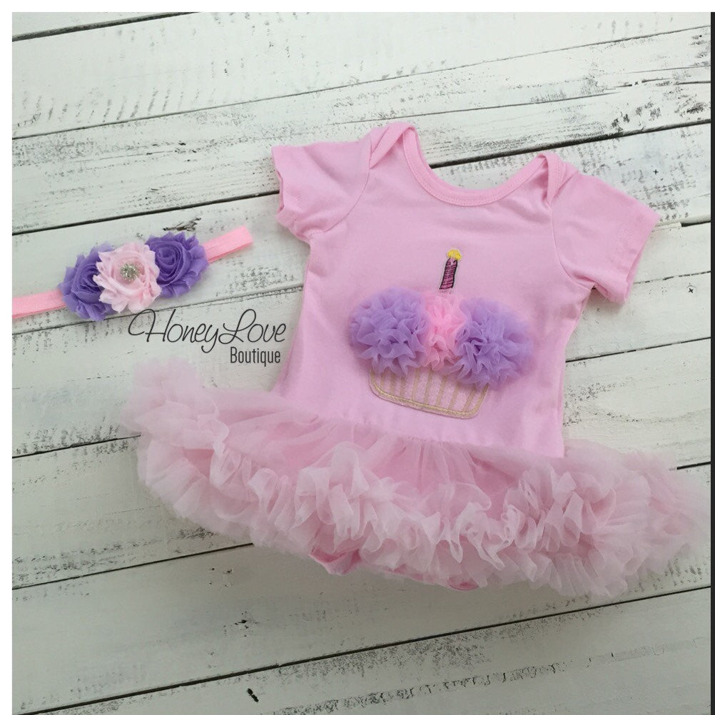 Cupcake Tutu Dress - Pink and Purple