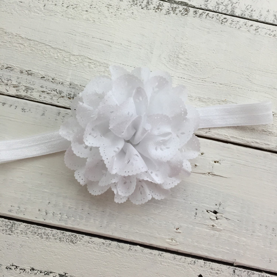 White Flower Headband - HoneyLoveBoutique