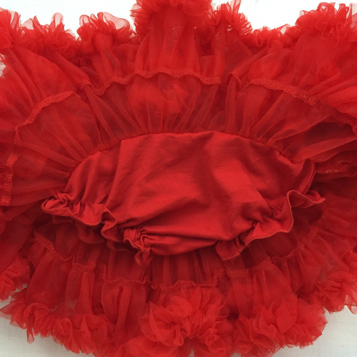 Red Pettiskirt - embellished flower