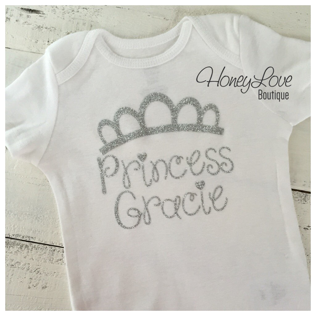 Personalized Princess Bodysuit - Silver or Gold
