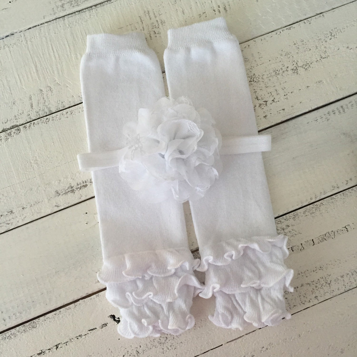 Ruffle Bottom Football bodysuit and optional headband and leg warmers
