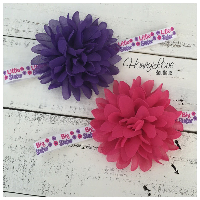Sister headbands - Little or Big sister
