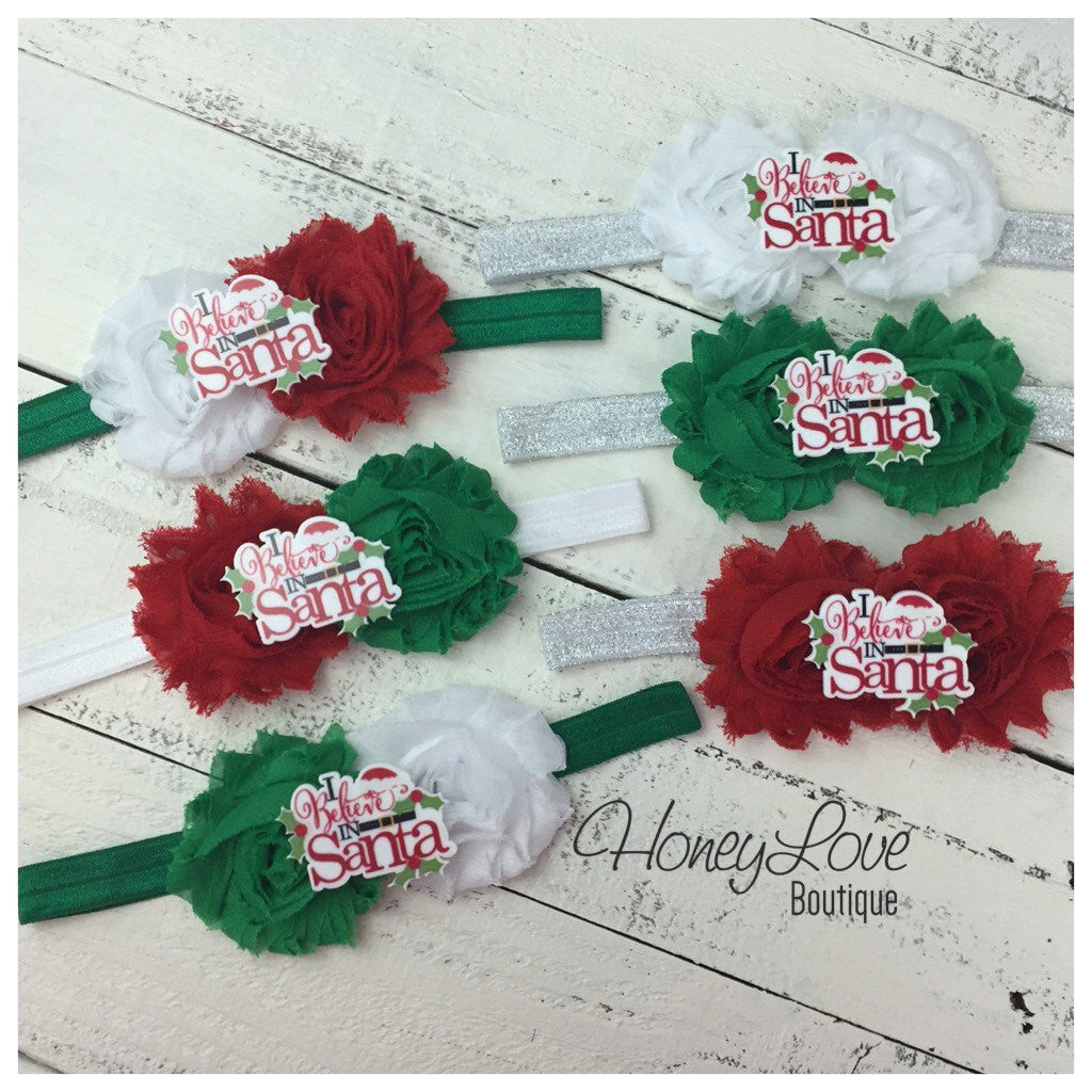 Christmas Headband - I Believe in Santa - HoneyLoveBoutique