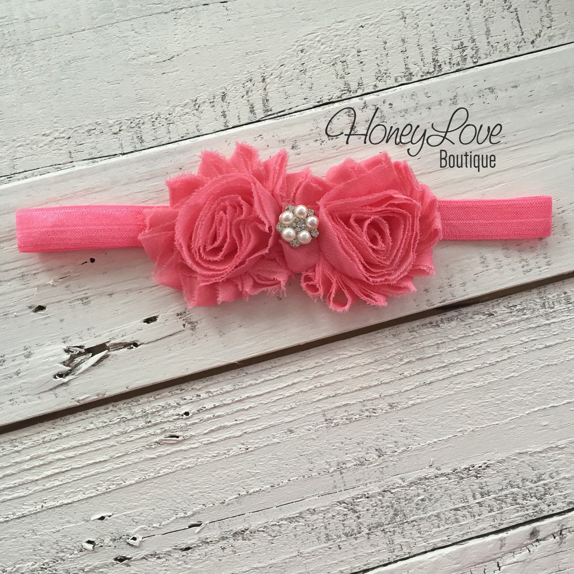 Coral Pink Ruffle Leg Warmers and matching headband - HoneyLoveBoutique