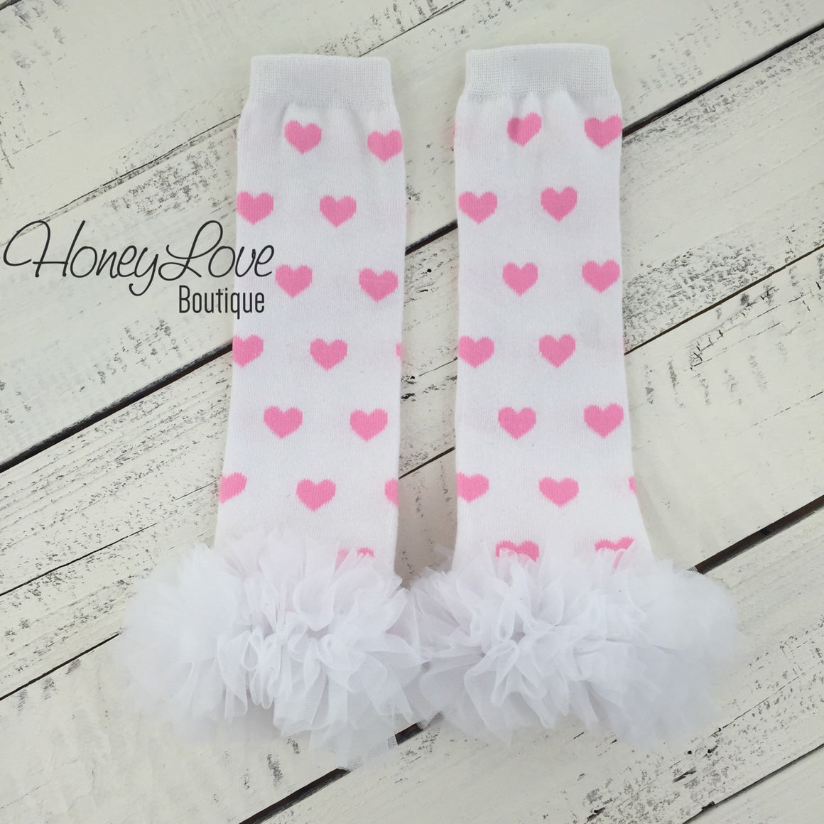 Leg warmers - Light Pink, Hot Pink or Red Hearts - HoneyLoveBoutique