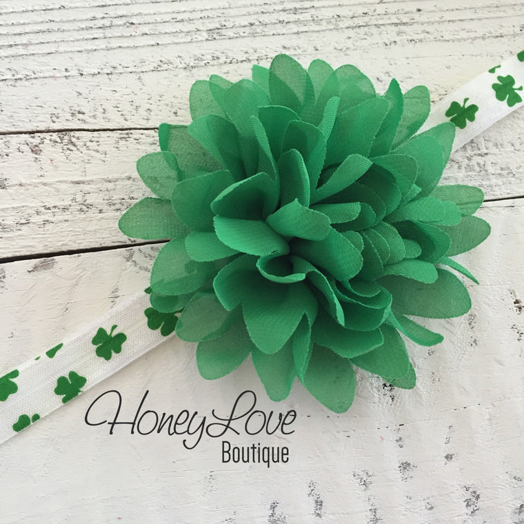 Shamrock clover flower headband