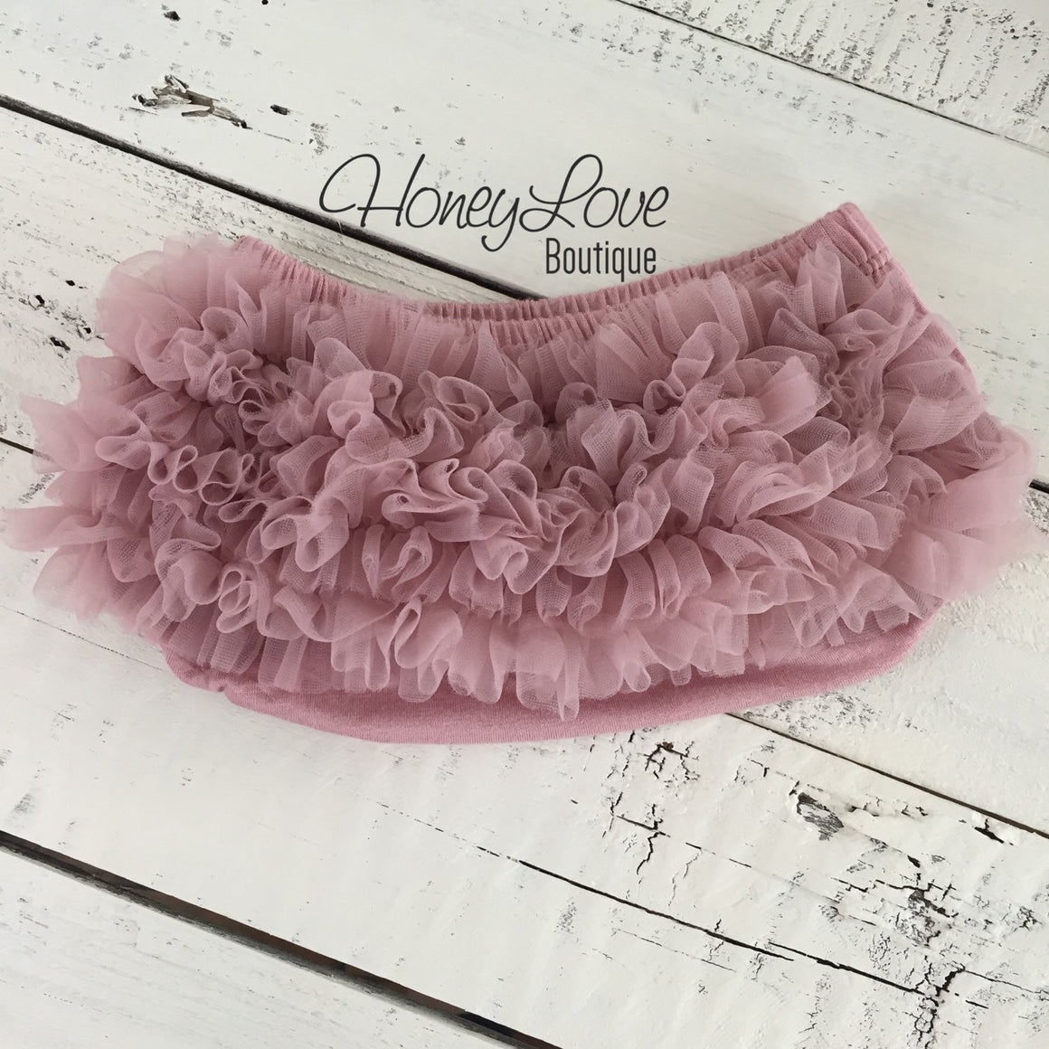 Vintage Pink ruffle bottom bloomers and pearl rhinestone flower headband - HoneyLoveBoutique