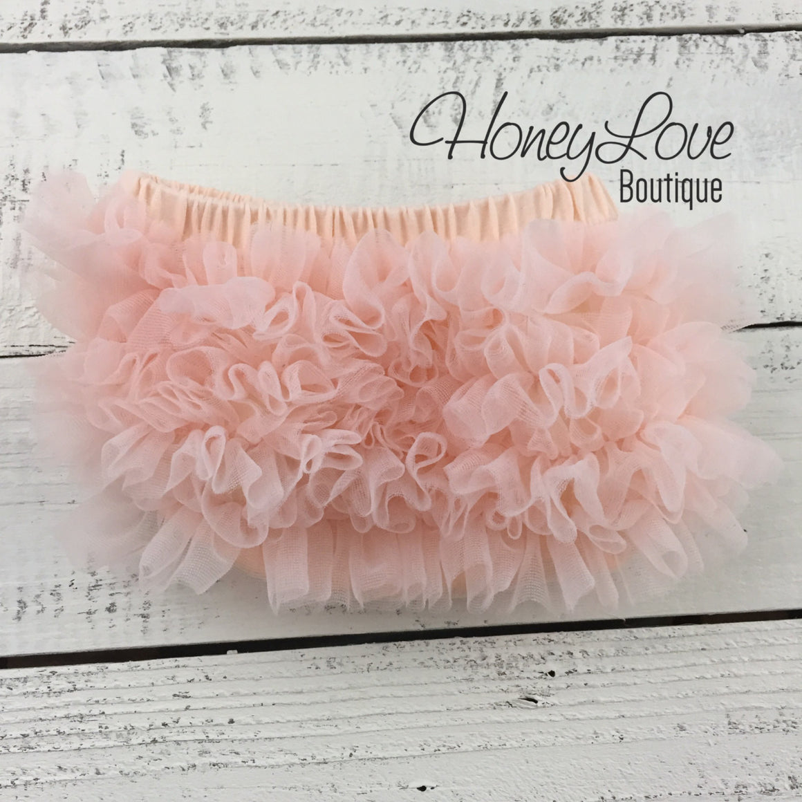Peach ruffle bottom bloomers - vintage pink and peach headband
